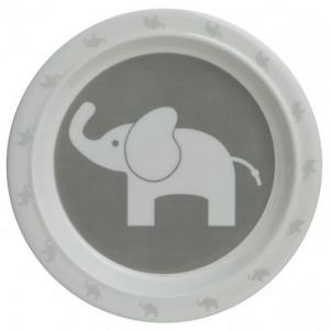 Rätt Start Flat Tallrik Elefant Grey