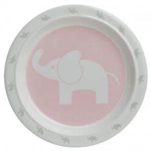 Rätt Start Flat Tallrik Elefant Rosa