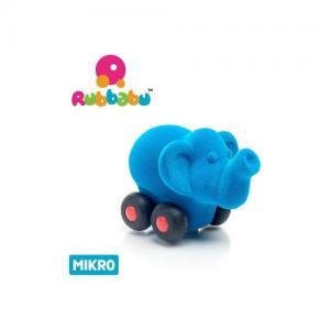 Rubbabu Naturlig Skumgummi Micro Blå Elefant