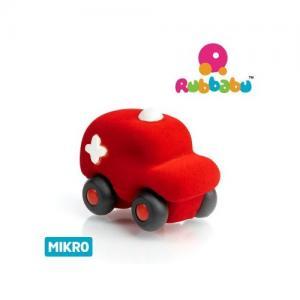 Rubbabu Naturlig Skumgummi Micro Fordon Ambulans Röd