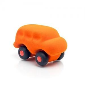 Rubbabu Naturlig Skumgummi Micro Fordon Buss Orange