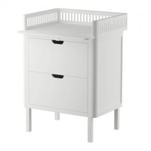 Sebra Changing Unit with Drawers Classic White