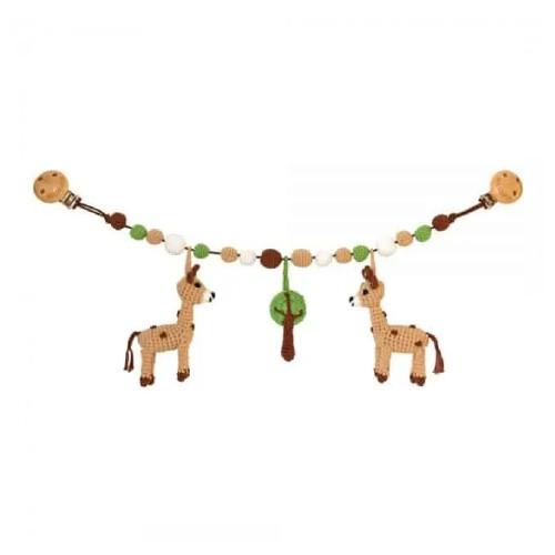 Sindibaba Virkad Barnvagnshänge Giraff