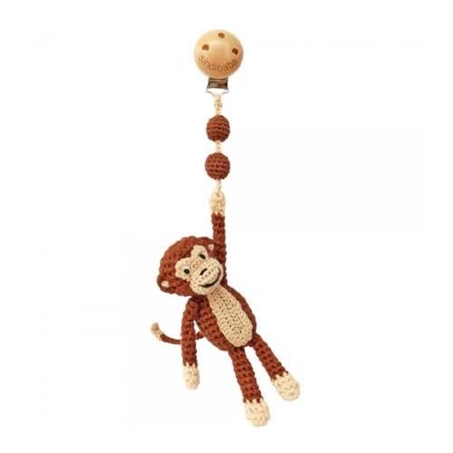 Sindibaba Crochet Stroller Toy Monkey Brown