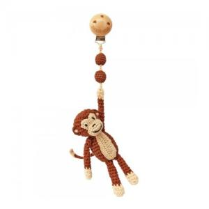 Sindibaba Crochet Stroller Toy Monkey Brown