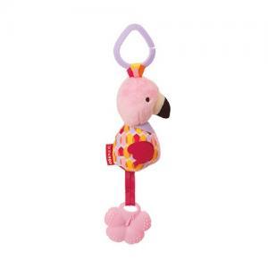 Skip Hop Bandana Buddies Flamingo Stroller Toy Rattle & Teething Ring