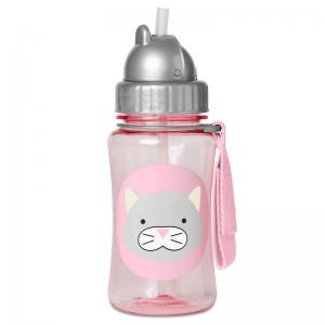 Skip Hop Bottle With Straw Zoo Winter Cat