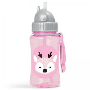Skip Hop Bottle With Straw Zoo Winter Deer