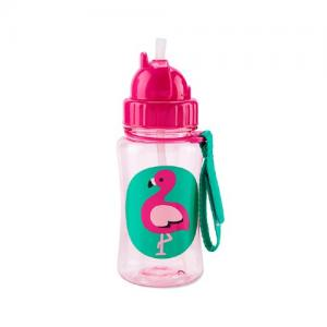 Skip Hop Flaska med Sugrör Zoo Flamingo