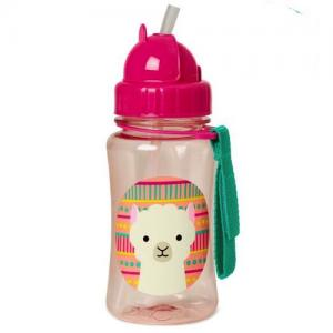 Skip Hop Bottle With Straw Zoo Lama