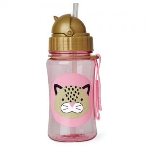 Skip Hop Bottle With Straw Zoo Leopard