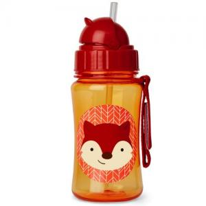 Skip Hop Bottle With Straw Zoo Fox