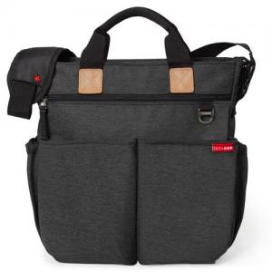 Skip Hop Diaper Bag Duo Signature Soft Slate Black Melange