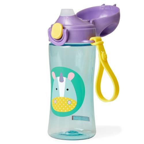 Skip Hop Zoo Lock-Top Sports Bottle Plastic Unicorn