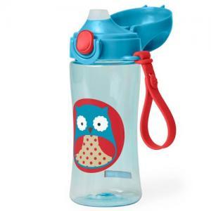 Skip Hop Zoo Lock-Top Sports Bottle Plastic Owl