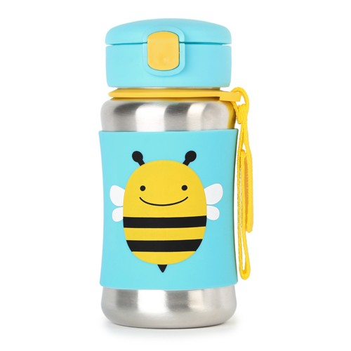 Skip Hop Steel Bottle with Straw Zoo Bee