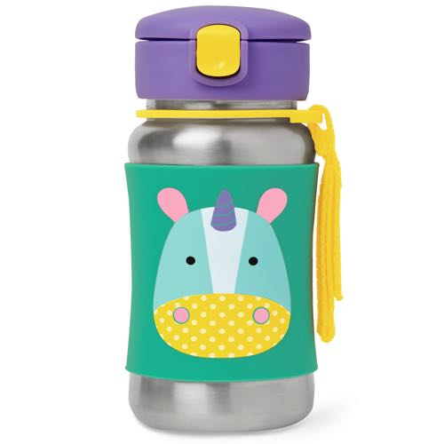 Skip Hop Steel Bottle with Straw Zoo Unicorn