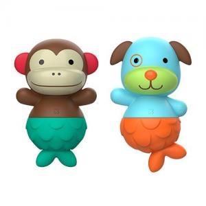 Skip Hop Zoo Bath Toy Mermaid Monkey & Dog