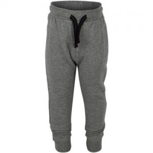 Small Rags Sweatpants Grey Melange With Pleats