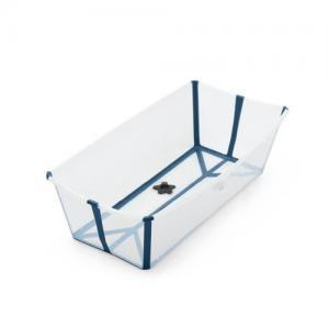 STOKKE Flexi Bath Badbalja Transparent  X-Large med värmekänslig badkarspropp