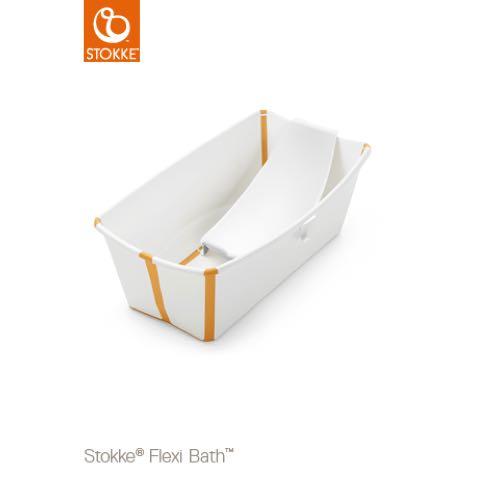 STOKKE Flexi Bath Badbalja Vit Gul med värmekänslig badkarspropp