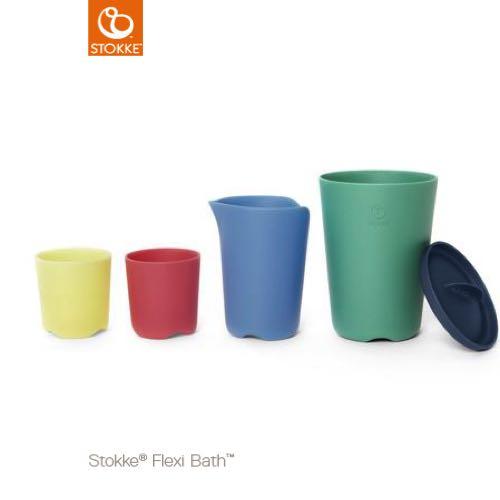 Stokke Flexi Bath Toy cups Badleksak Muggar