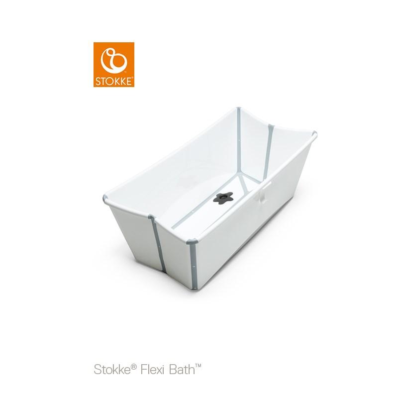 STOKKE Flexi Bath Badbalja Vit med värmekänslig badkarspropp