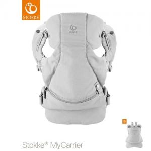 Stokke MyCarrier Front & Back Carrier Grey Organic Cotton