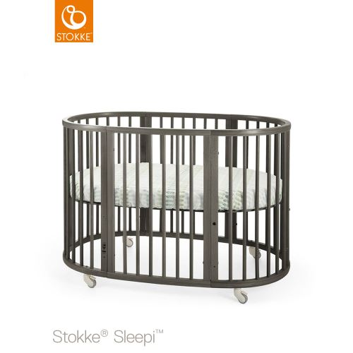 Tienerbed Incl Matras.Stokke Sleepi Bed 120 Cm Incl Mattress Hazy Grey Lilla Violen