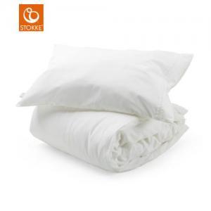 Stokke Sleepi Bed Linen 100 x 135 cm+ Pillow Case 40 x 60 cm White (Påslakanset)