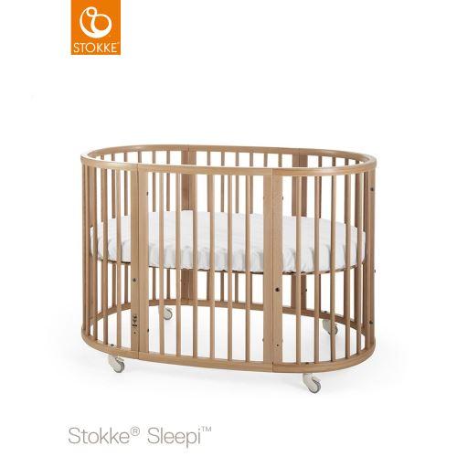Fräscha Stokke Sleepi Säng 120 cm inklusive madrass Natural Lilla Violen BJ-17