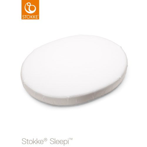 Stokke Sleepi Mini Fitted Sheet 80 cm White (Drapålakan)