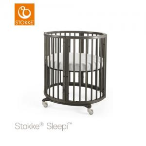 Stokke Sleepi Mini inklusive Madrass Hazy Grey