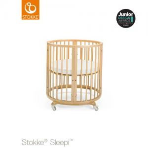 Stokke Sleepi Mini inklusive Madrass Natural