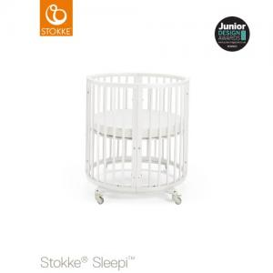 Stokke Sleepi Mini inklusive Madrass White