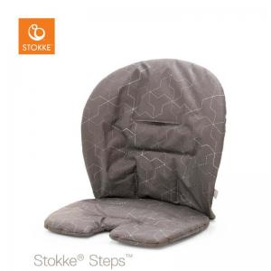 Stokke Steps Baby Set Cushion Geometric Grey (Babyset kudde)