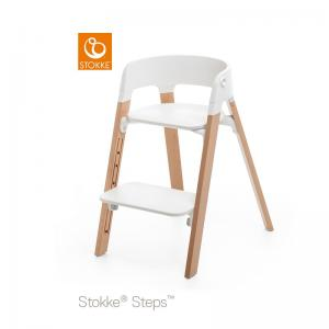 Stokke Steps Chair with Black Seat and Beech Wood Legs Natural