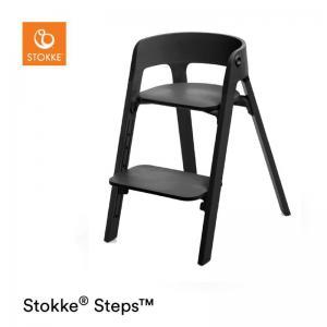 Stokke Steps Stol SVART Sittdel / BLACK Stolsben i Bok