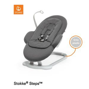 Stokke Steps Bouncer Deep Grey (Babysitter) Grå plast