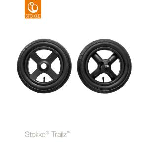 Stokke® Trailz Terrain Rear Wheel complete set 2-pack Black