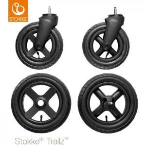 Stokke Trailz Terränghjul / Terrain Wheels 4-pack - Black