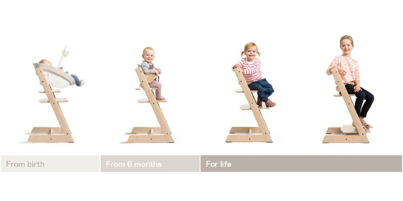 Stokke Tripp Trapp® Stol Classic Collection Serene Pink