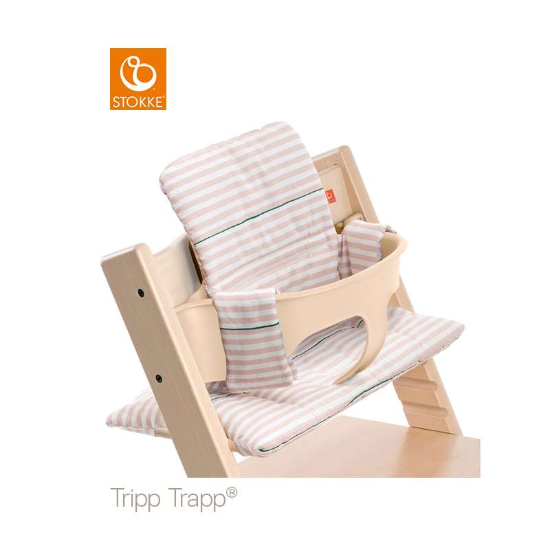 Stokke Tripp Trapp Classic Cushion Pink Stripes ( Klassisk Dyna )