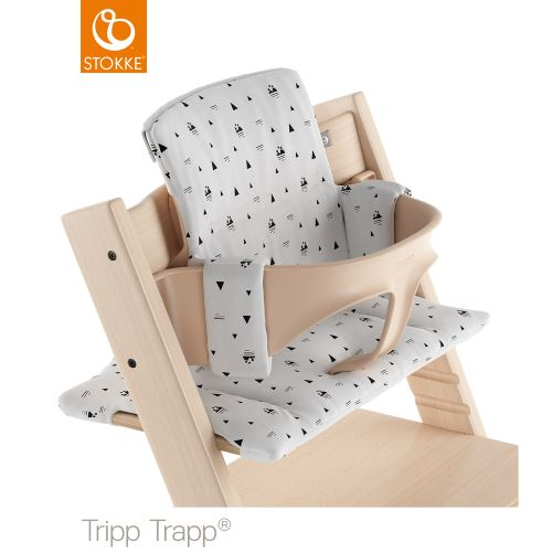 Stokke Tripp Trapp Classic Baby Cushion White Mountains Organic Cotton Lilla Violen