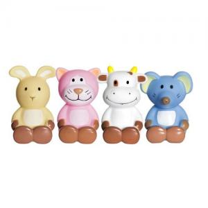 Teddykompaniet Diinglisar Bath Toys 4pcs Cat Mouse Rabbit Cow