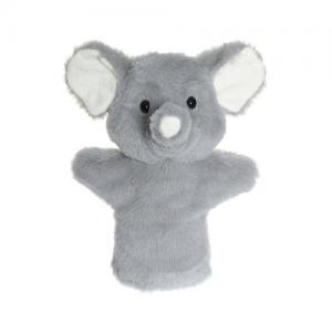 Teddykompaniet Handdocka Elefant Grå