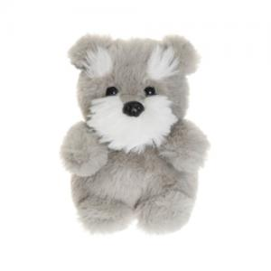 Teddykompaniet Teddy Sitting Dog Grey 12 cm