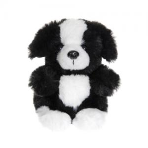 Teddykompaniet Teddy Sitting Dog Black 12 cm