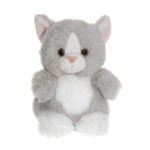 Teddykompaniet Teddy Cats Sitting Cat Grey 12 cm