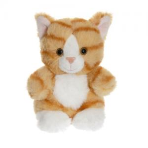 Teddykompaniet Teddy Cats Sittande Katt Randig Orange 12 cm